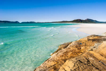 Paradise beach (Whitsunday Islands, Australia) Stock Photo