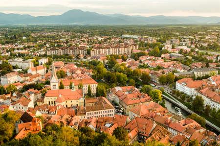 st james s: Ljubljana at sunset, Slovenia