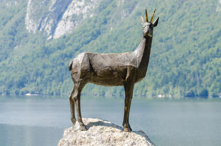 legendary: Zlatorog (Goldenhorn), the legendary Slovenian chamois Stock Photo