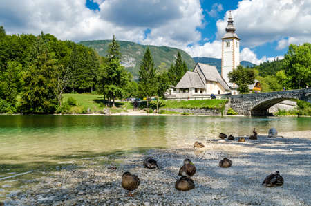 st  john: Church of St John the Baptist, Bohinj Lake, Slovenia