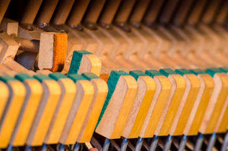 soft pedal: Upright piano dampers and hammers
