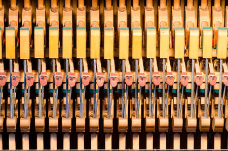upright piano: Upright piano dampers and hammers