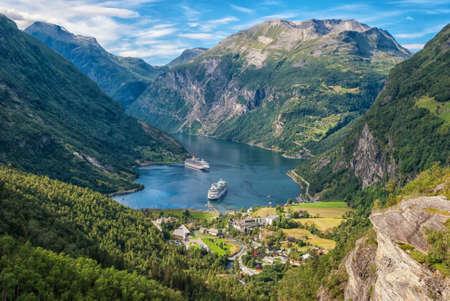 Fjord de Geiranger, Norv�ge Banque d'images