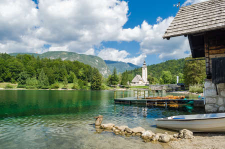 Church of St John the Baptist, Bohinj Lake, Slovenia photo