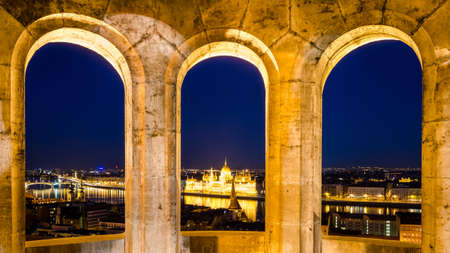 Budapest view from the Fishermans Bastion photo