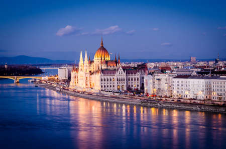 Budapest, Parliament at night