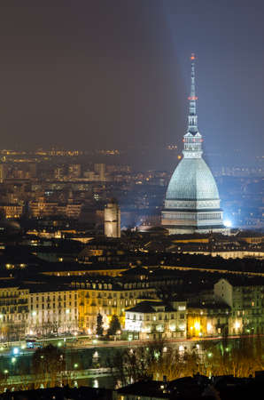 Turin (Torino), Mole Antonelliana at night photo