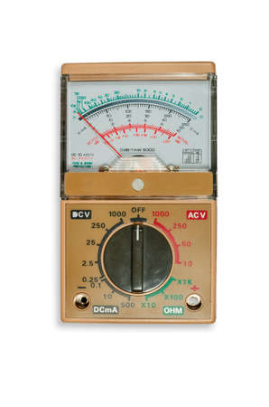 galvanometer: Analogic Volt-Ohm meter multimeter Stock Photo