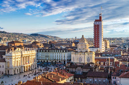 Turin (Torino), panorama from the bell tower