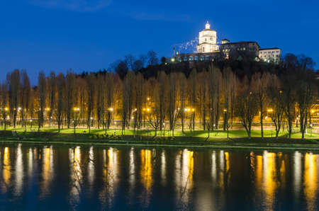 Turin (Torino), Monte dei Cappuccini and river Po photo