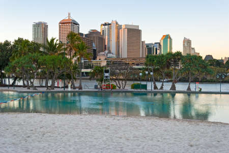 Brisbane, Streets Beach Stock Photo