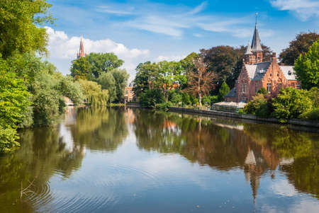 Bruges, Belgium, Minnewater Lake photo