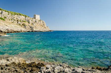 Puglia, Porto Selvaggio Stock Photo