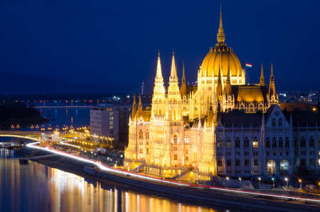 Budapest, Danube and Hungarian Parliament photo
