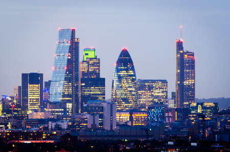 night skyline: London, skyline from Greenwich