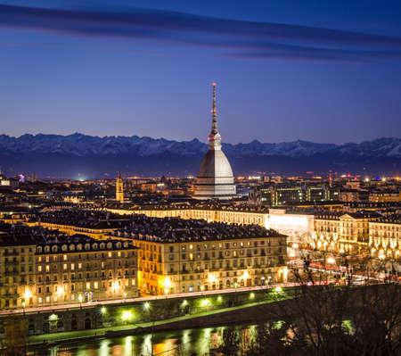 Turin (Torino), panorama with Mole Antonelliana