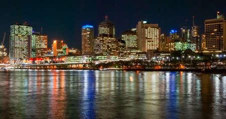 Brisbane, Australia, skyline at night Stock Photo