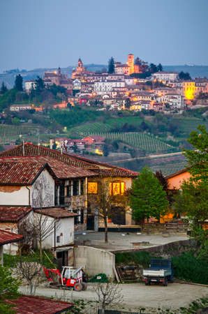 piedmont: Neive, Langhe (Piedmont, Italy) Stock Photo