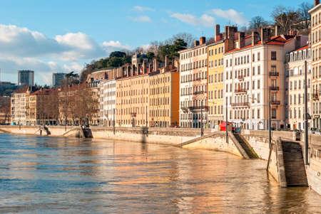 lyon: Lyon, France, golden hour Stock Photo