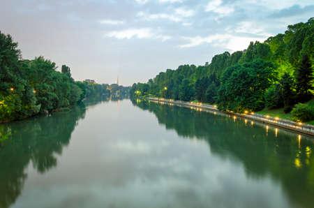 mole: Turin (Torino), river Po and Mole Antonelliana