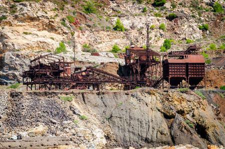 isola: Abandoned iron mine (Isola dElba, Italy) Stock Photo
