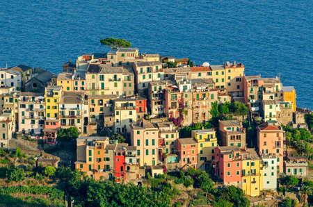 ''cinque terre'': Corniglia, Cinque Terre (Italian riviera) Stock Photo