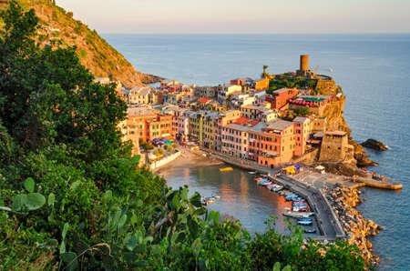 riviera: Vernazza, Cinque Terre (Italian Riviera, Liguria) at sunset