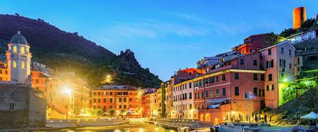 vernazza: Vernazza, Cinque Terre (Italian Riviera, Liguria) at twilight