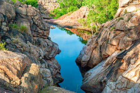 australia: Kakadu National Park (Northern Territory Australia) landscape near Gunlom lookout
