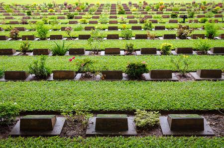 wojenne: Kanchanaburi War Cemetery (Thailand)
