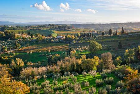 tuscany landscape: Tuscany landscape near San Gimignano
