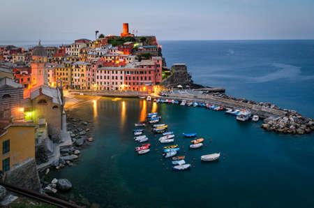 riviera: Vernazza Cinque Terre (Italian riviera Liguria Italy) Stock Photo