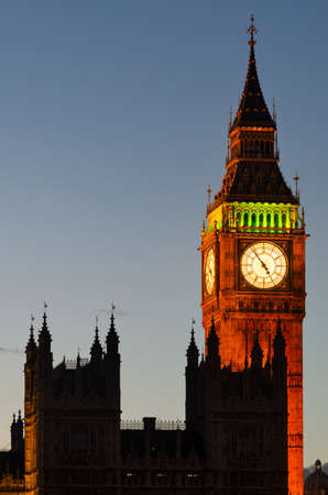big ben tower: Big Ben Tower and Westminster (London) Editorial
