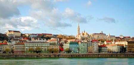 matthias church: Budapest, view on Danube and Buda with Matthias Church