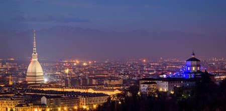 mole: Turin (Torino), panorama with Mole Antonelliana and Alps