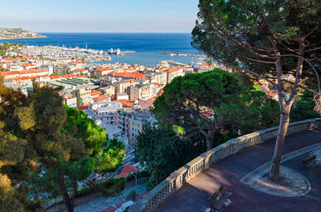 regina: Sanremo, panorama from Giardini Regina Elena Stock Photo