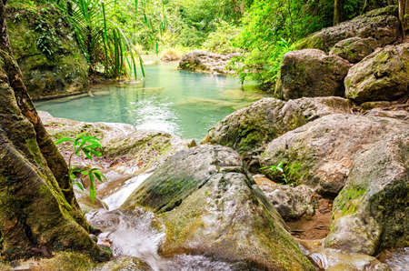 erawan: Erawan Waterfalls in Erawan National Park (Thailand)