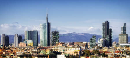 Milan (Milano) skyline with new skyscrapers