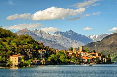como: Lago di Como (Lake Como) Rezzonico Stock Photo