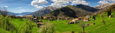 definition high: Lago di Como (Lake Como) high definition panorama from Peglio