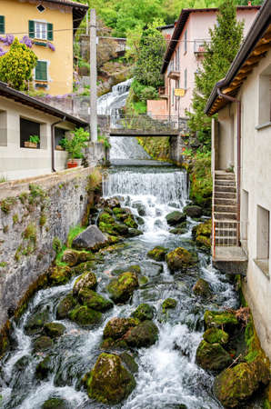 shortest: Fiumelatte Lago di Como (shortest Italian river) Stock Photo