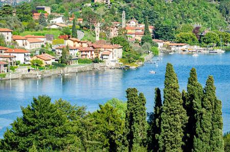 lago: Lago di Como (Italy) Stock Photo