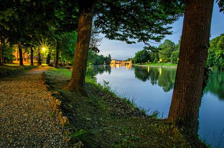 Turin (Torino) Parco del Valentino and river Po