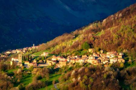 lake como: Brenzio small village North of Lake Como (Italy) Stock Photo