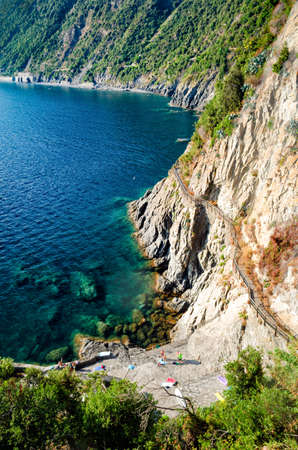 hiking trail: Hiking trail in Cinque Terre (Italy)