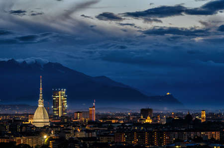 definition high: Turin (Torino) high definition panorama with all the city skyline