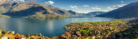 high definition: Gravedona and Lago di Como high definition panorama Stock Photo