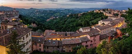 umbria: Perugia (Umbria Italy) view from Porta Sole Stock Photo