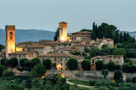umbria: Corciano Umbria scenic view at twilight Editorial