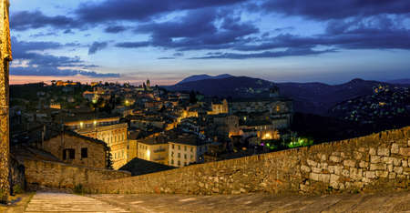 sole: Perugia (Umbria) panorama from Porta Sole at twilight